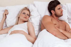 Rejected Pisces man in bed with woman