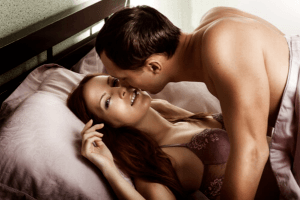Taurus man in bed with a woman