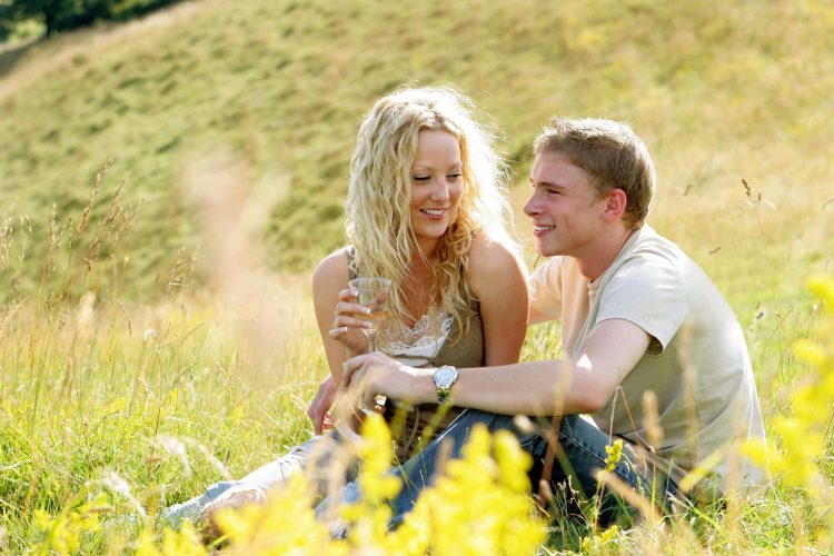 A healthy compatibility match between a couple in a field