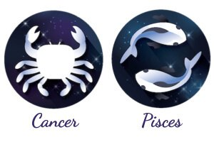 Cancer and Pisces zodiac signs