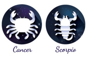 Cancer and Scorpio sun signs