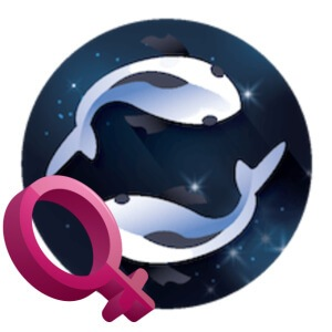 The symbol for the Pisces woman