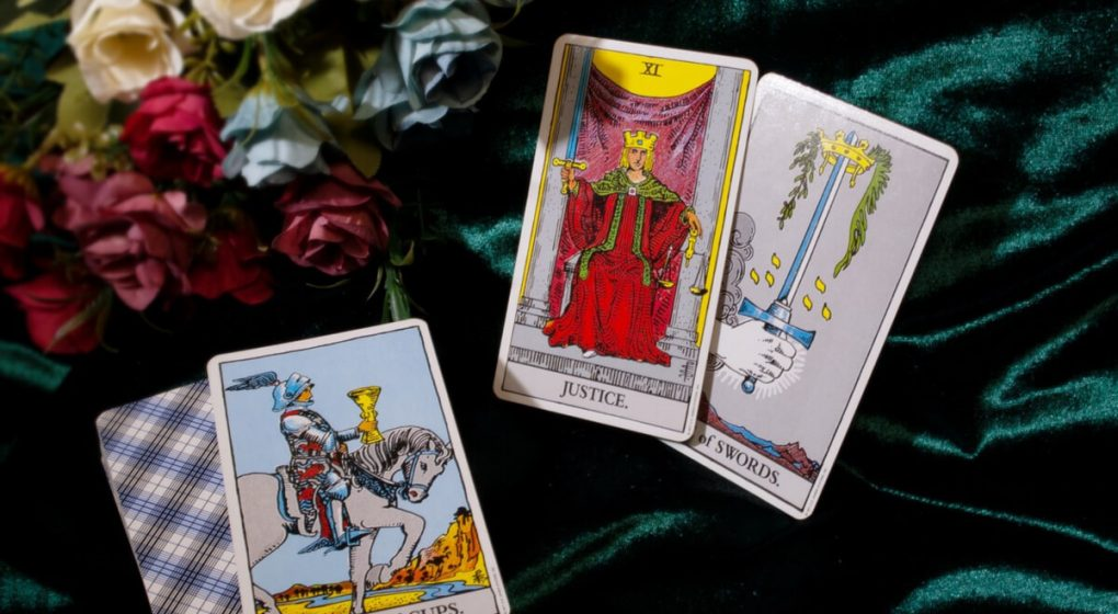 How tarot card readings work laid out on a table